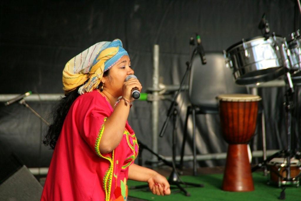 Deris auf der Bühne